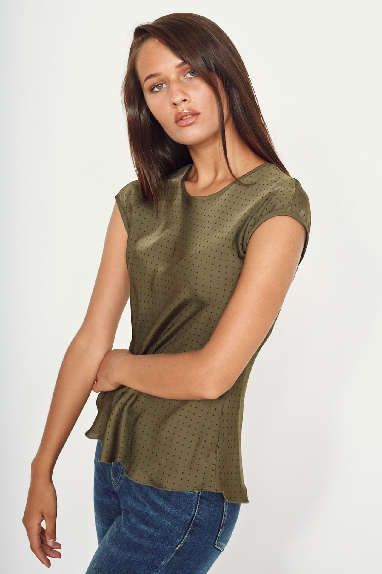 Blusa pois sbiego military - Autunno 2020 - Inverno 2021 | Brend