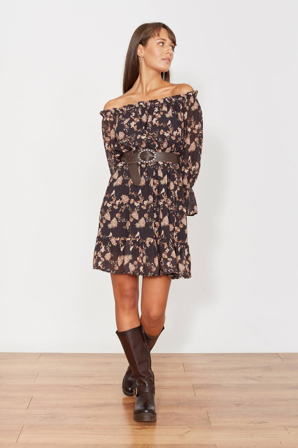 Mini-dress shiffer paisley moro - Autunno 2019 - Inverno 2020 | Brend